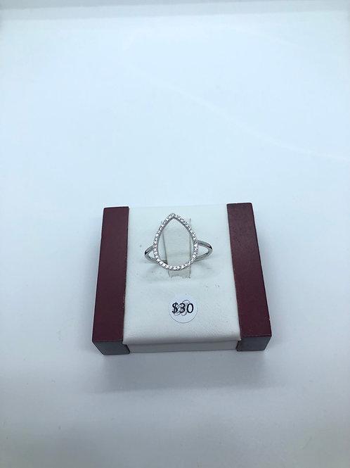 Teardrop Hollow Ring