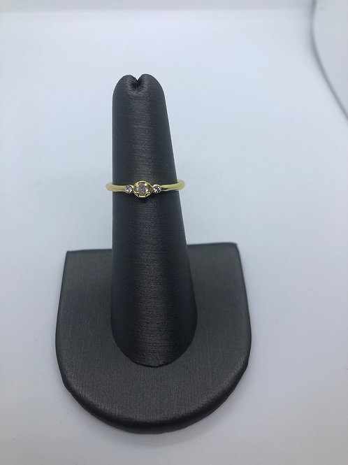 Dainty past present future ring