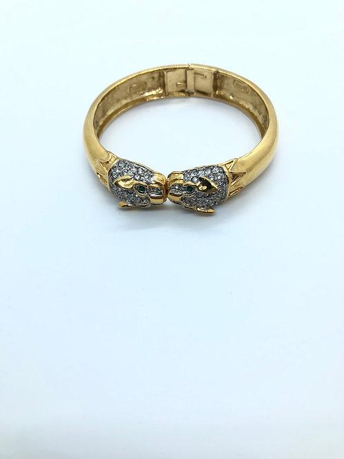Leopard Gold Bangle