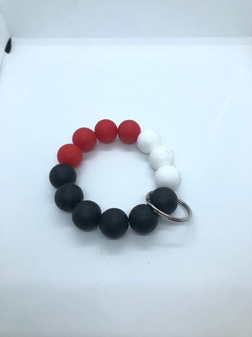 Red + Black + White Keychain