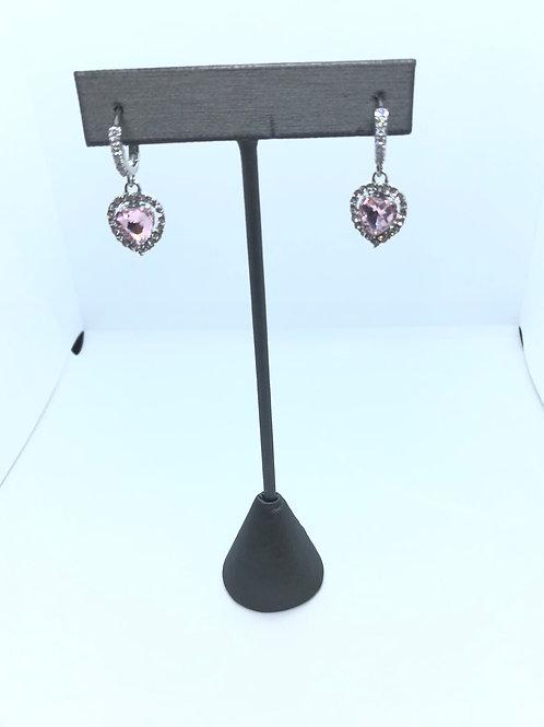 Pink Heart Dangles