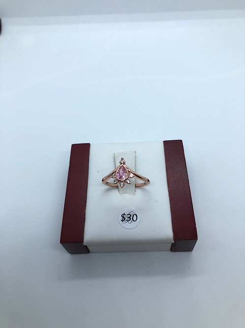 Rose Gold + Light Pink Ring