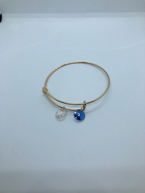 Blue + White Bangle