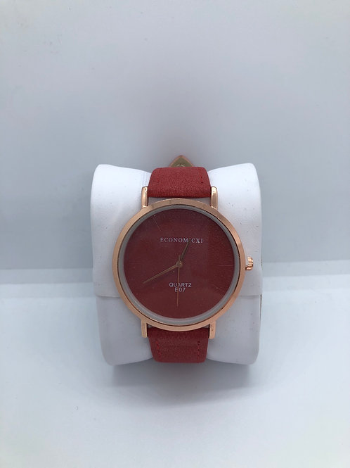 Rose Gold and Red Watch