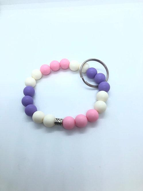 Cream + Purple + Pink Keychain