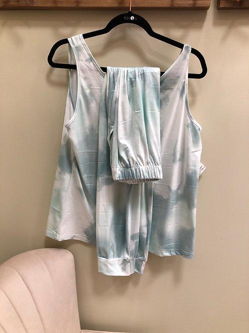 Teal Tie Dye Pajamas