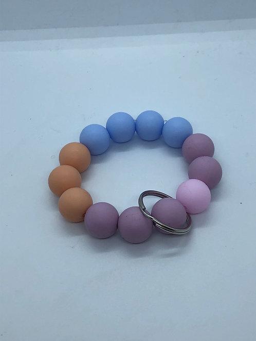 Lilac + Orange + Blue Keychain