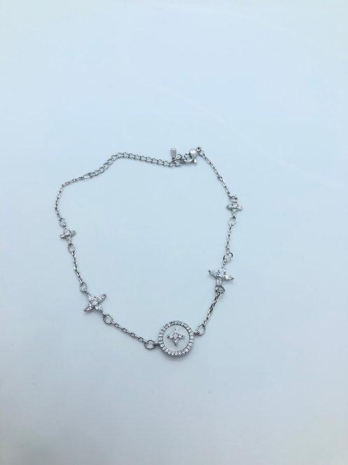 Silver + Opal Anklet