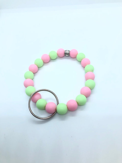 Pink + Lime Keychain