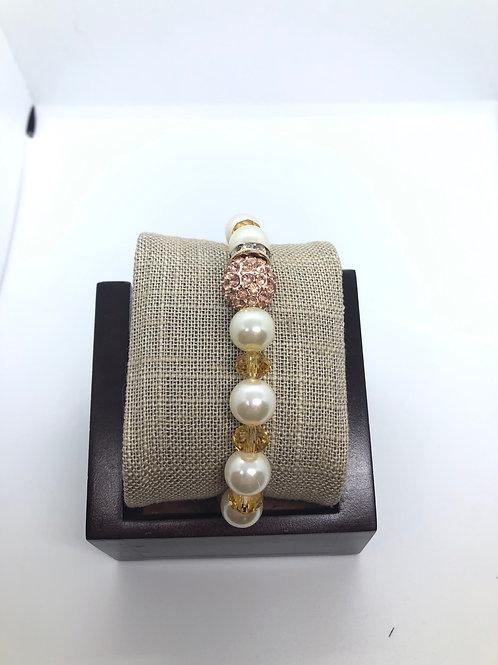Rose gold + Gold + Pearl Bracelet
