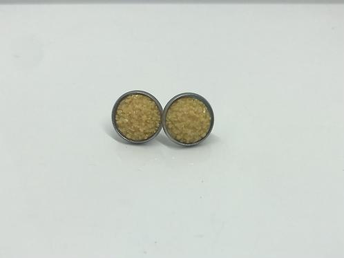 Yellow Druzy Earrings