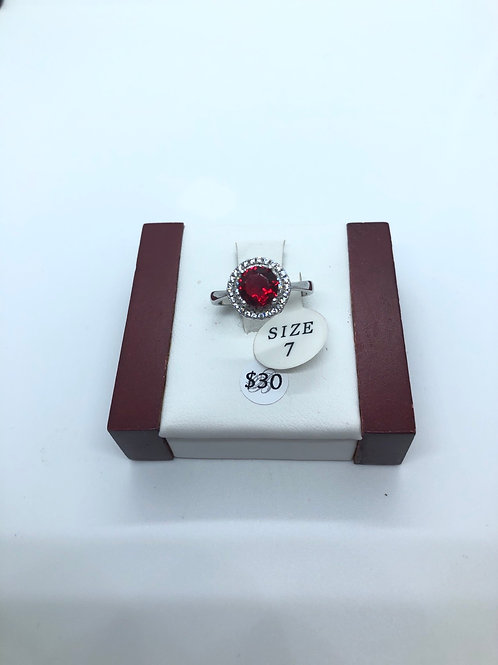 Faux Ruby Ring