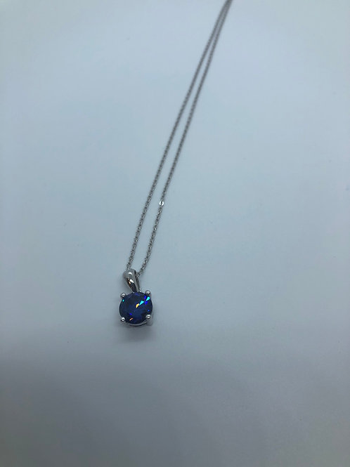 Colourful crystal pendant necklace