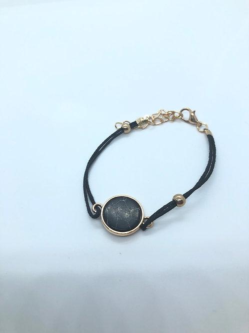Gold + Black Adjustable Bracelet