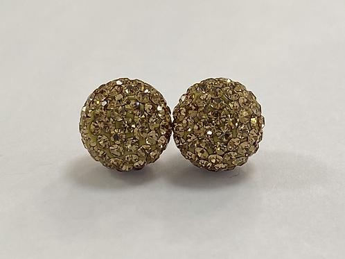Gold Crystal Ball earrings