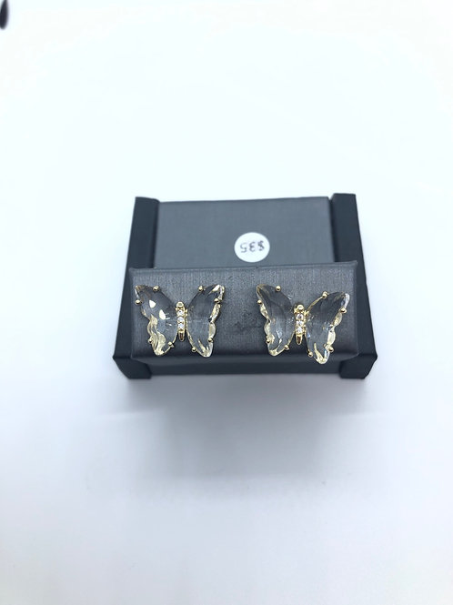 Clear Butterfly Studs