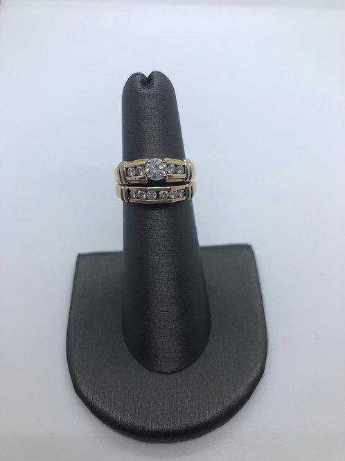 Wedding band & engagement ring set