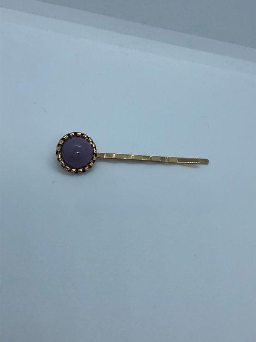 Simple Purple Hair Clip