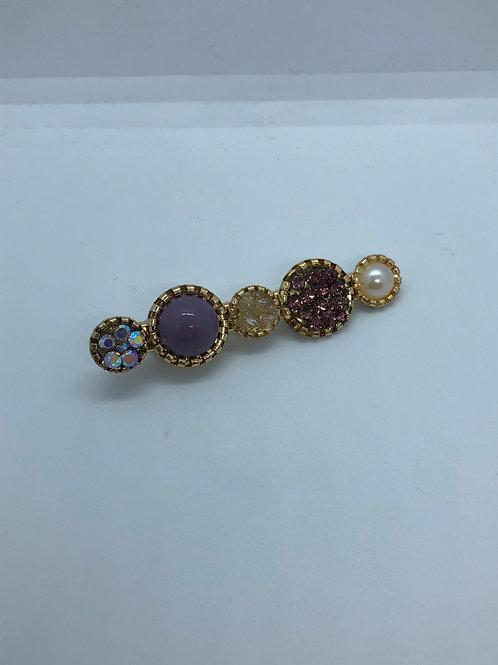 Purple Glitzy Hair Clip