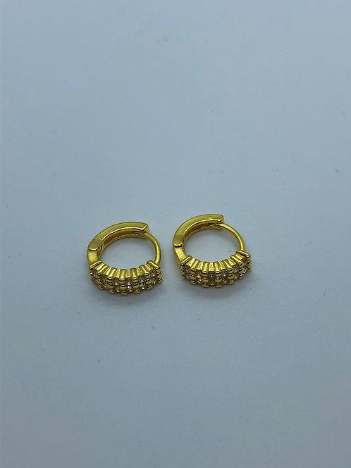 925 silver gold hoops