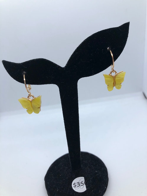 Small Butterfly Hoops