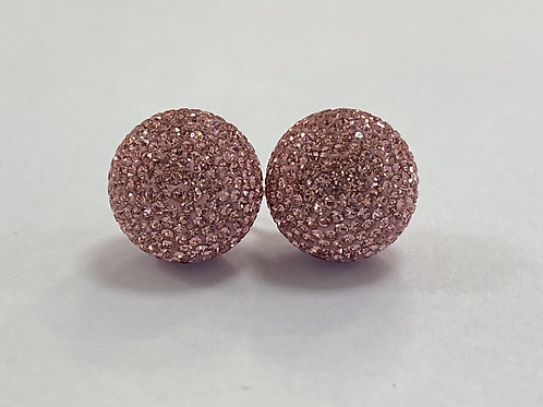 Light Pink Micropavé Earrings