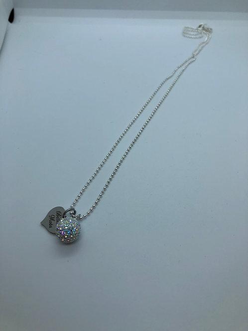 Iridescent Aurora borealis micropave necklace