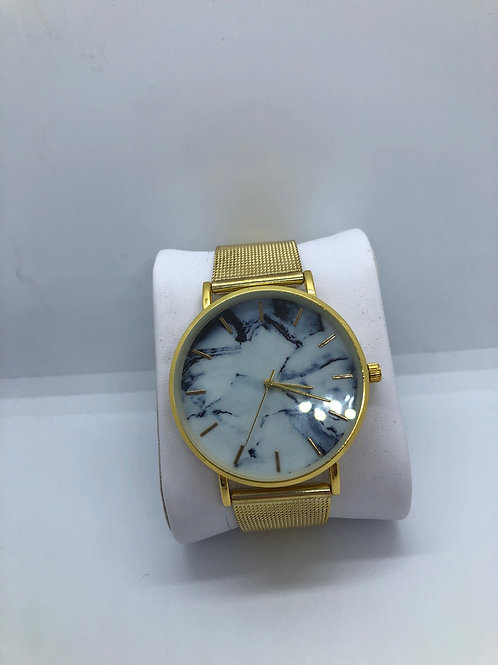 Gold Marble Watch