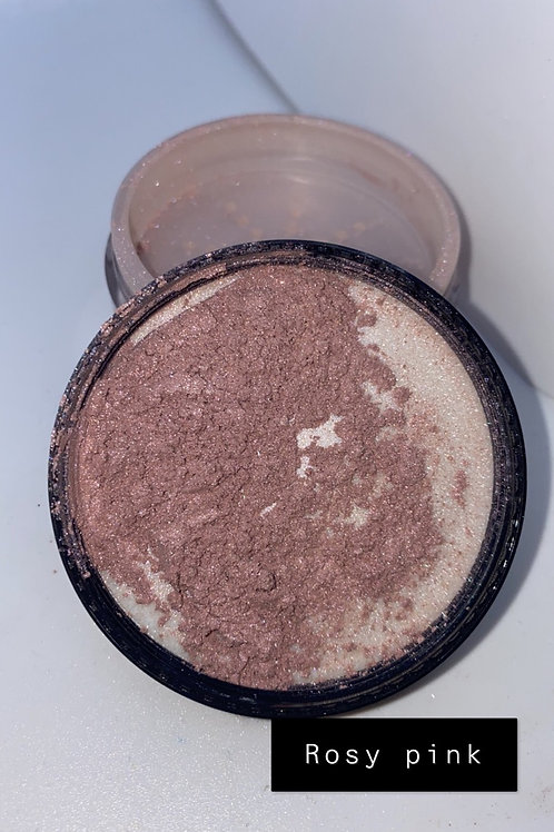 Rosy pink pigment face powder