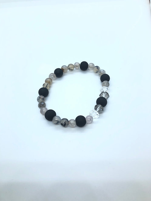 Black + Neutrals Beaded Bracelet