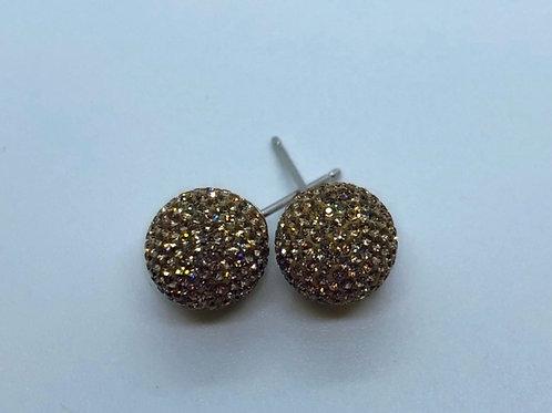 Gold Micropavé Earrings