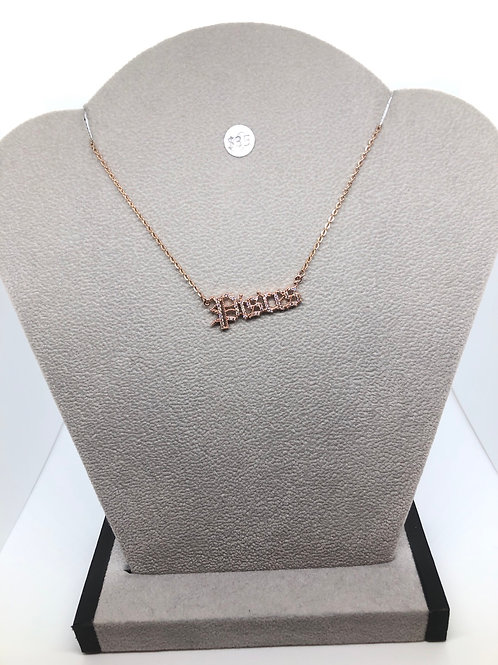 Rose Gold Zodiac Necklace