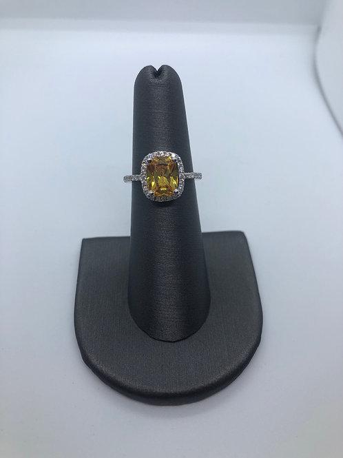 Topaz November birthstone ring