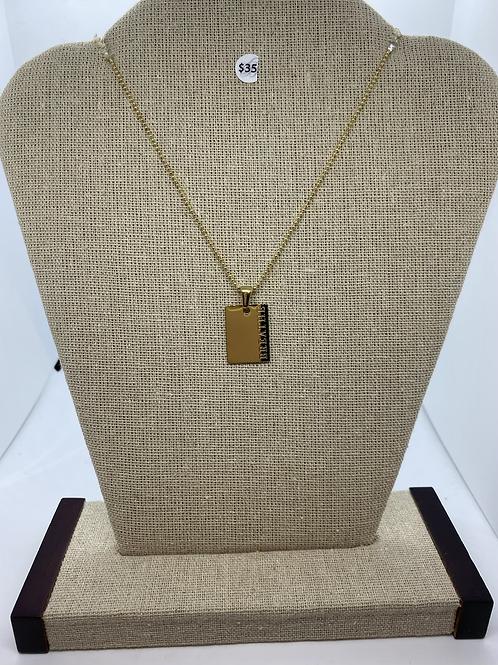 Breathe gold pendant