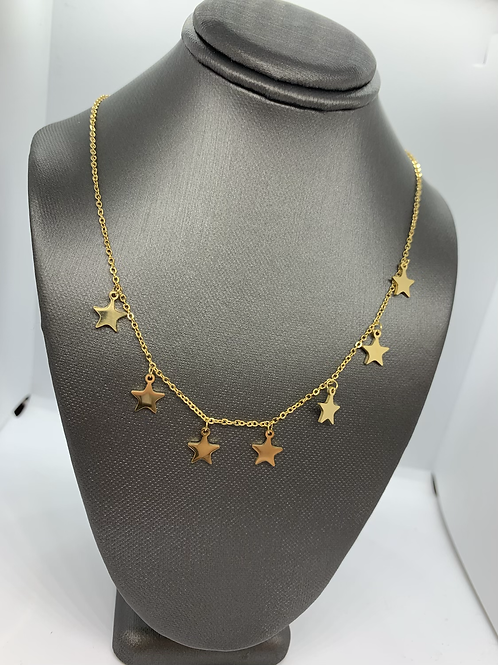 Gold Dainty Star Necklace