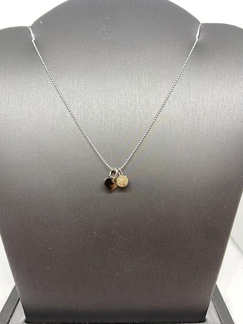 Gold Micropavé Crystal Ball Necklace