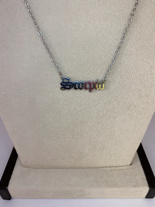 Scorpio Zodiac Silver Necklace