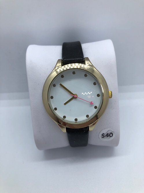 Gold Watch with Heart Detail hand