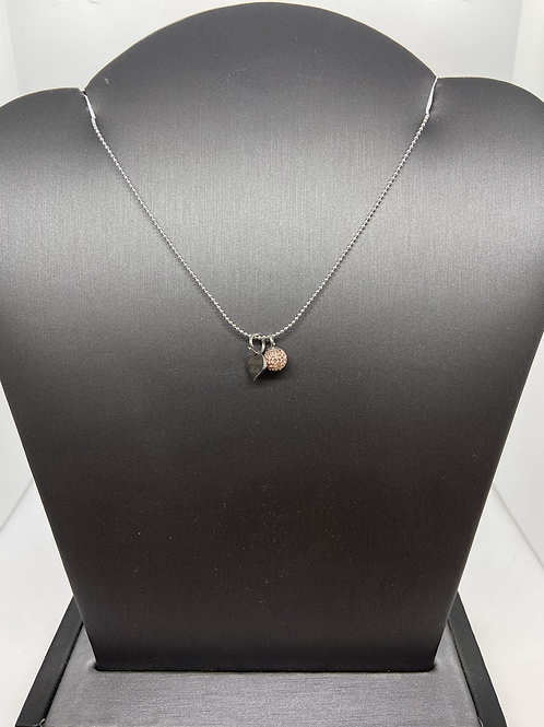 Rose Gold Micropavé Necklace
