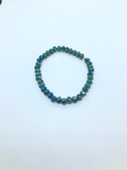 Green + Blue Beaded Bracelet