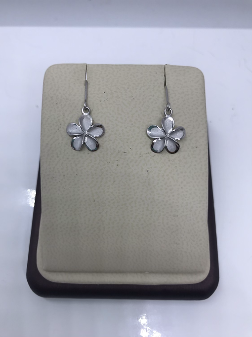 Hawaiian White Opal Dangle Earrings