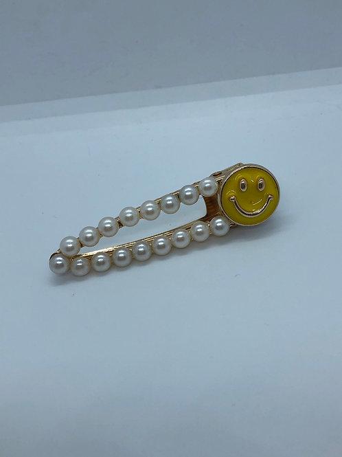 Smiley Pearl Hair Clip