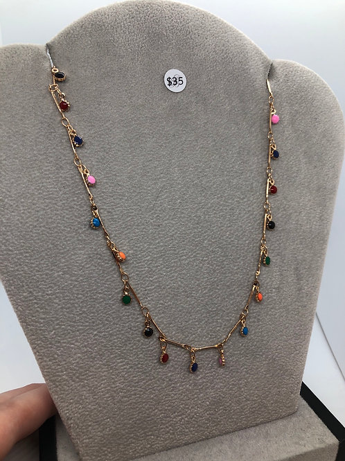 Colourful Dainty Necklace