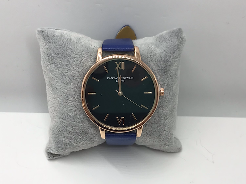 Rose Gold with Royal Blue Strap Watch