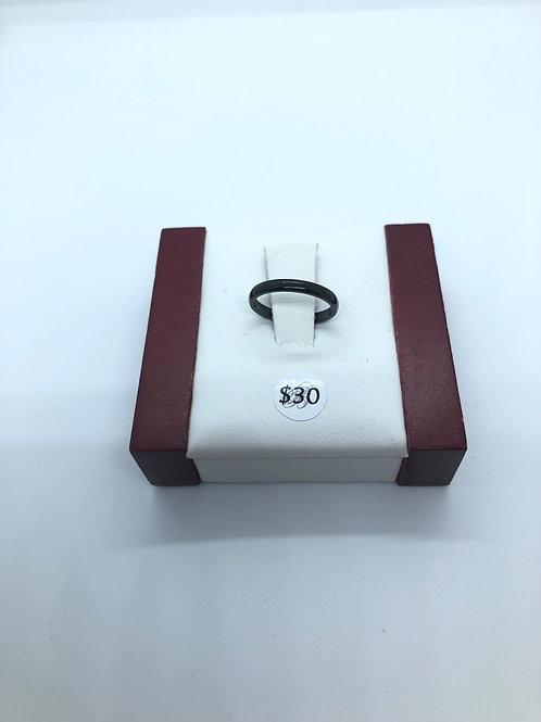 Black Stacker Ring