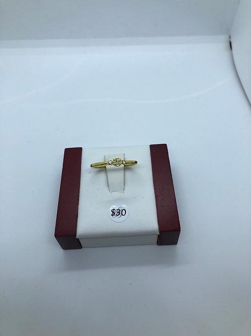 Gold + Cubic zirconia Ring