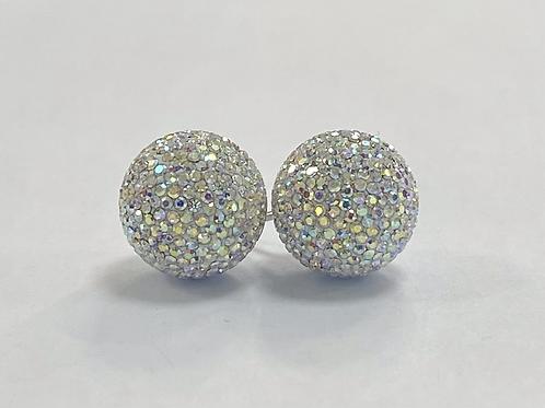 Iridescent Aurora Borealis Micropavé Earrings