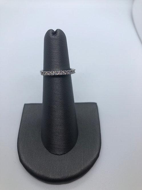 Half pavé ring