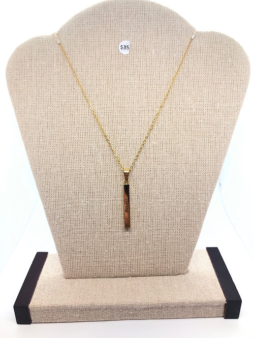 "Women Empowerment ""Caring"" Necklace in Gold"