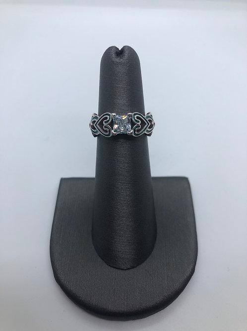 Script Heart Ring